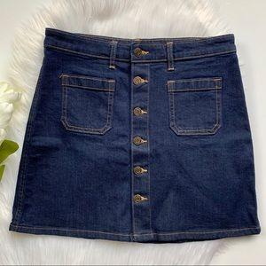 GAP | Jean Button Down Skirt sz 4